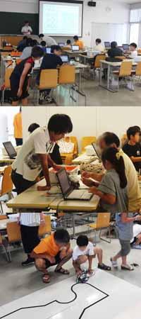 レゴマインドストームを用いたロボット体験教室「ロボットで遊ぼう!」が開催されました。